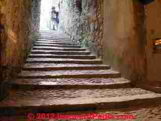 Low slope stairs in Girona, Spain (C) Daniel Friedman