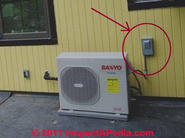 complete list of all air conditioning heat pump system controls this switch is normally always on except during equipment servicing also see outside switches fuses breakers air conditioner