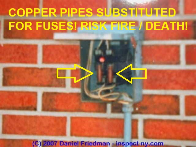 complete list of all air conditioning heat pump system controls can just make out that someone has installed 1 2 copper pipes in place of the original fuses