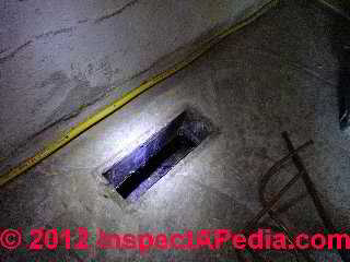 In slab air duct floor register - starting point for investigation (C) Daniel Friedman