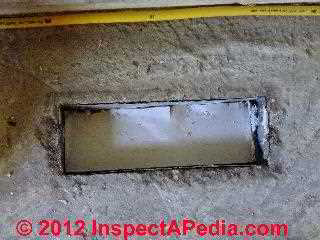 In-slab air duct abandoned & sealed (C) Daniel Friedman
