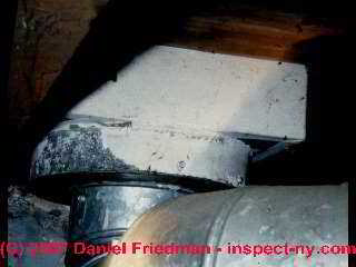 Photograph of asbestos paper duct seal