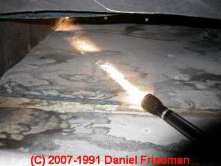 Photograph of leaks into HVAC duct work (C)DJ Friedman.
