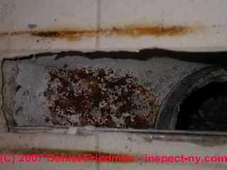Photograph of rusty air conditioning duct register