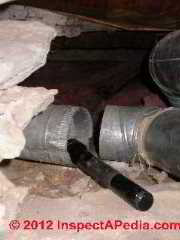 Disconnected return air duct in crawl space (C) Daniel Friedman
