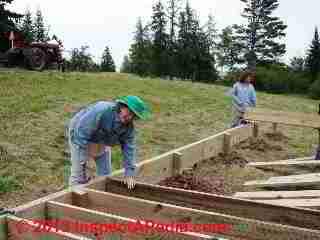 Deck joist framing - Summerblue Arts Camp, Two Harbors MN (C) Daniel Friedman