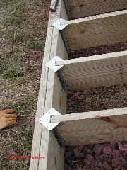 Deck joist connection to a deck using an outer edgge girder (C) Daniel Friedman
