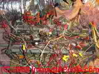 Rats nest of electrical wires - low voltage (C) Daniel Friedman