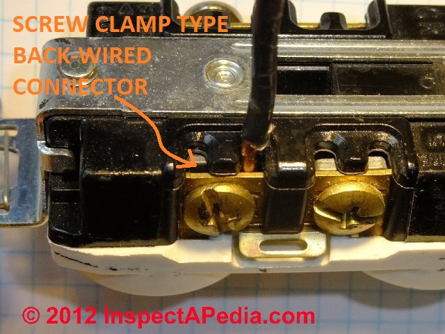 electrical outlet wire connections receptacle or wall plug wire receptacle 20a backwired clamp type c d friedman