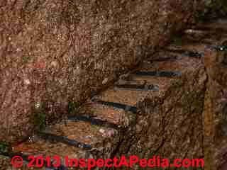 Retaining wall damage (C) D Friedman