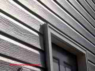 Shiplap or drop lap vinyl siding profile (C) Carson Dunlop Associates