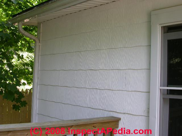 Asbestos In Siding Materials - How To Identify Asbestos-Cement