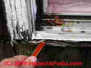 Exterior door flashing leak damage (C) Daniel Friedman