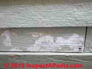 Damaged fiber cement siding - Rhinebeck NY (C) Daniel Friedman