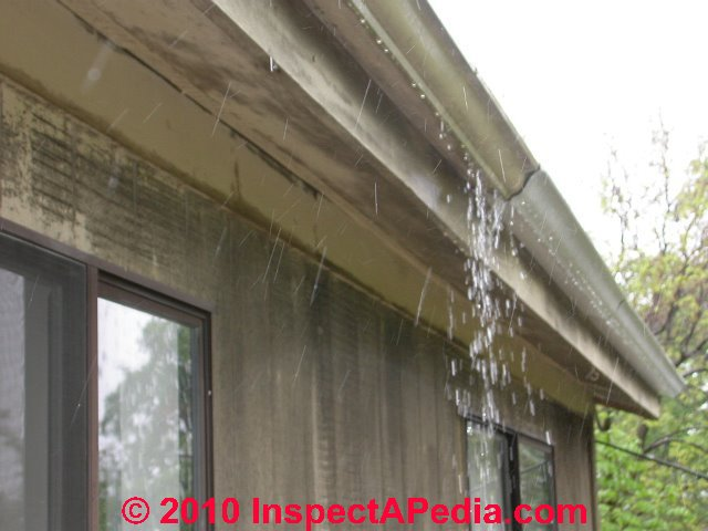 Roof Gutter Leaks Installation Or Design Troubles