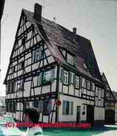 Fachwerk or half timbered home in Germany 1960s (C) Daniel Friedman