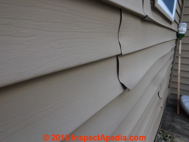 Vinyl Siding Buckled Warped By Sun Exposure
