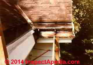 Yankee gutter leaks sealed pending proper repair (C) Daniel Friedman