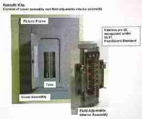 LARGER  Photograph of Eaton Cutler Hammer Electric Retrofit Kit for Electrical Panel Replacement