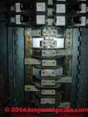 Challenger Electric Electrical Panel - bus overheat field report (C) InspectApedia & Lee