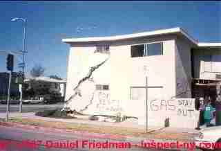 Photograph of building damage near Los Angeles 2000 © Daniel Friedman