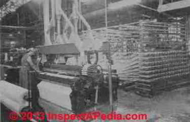 Asbestos fabric loom - Rosato Fig 7.1 (C) InspectApedia