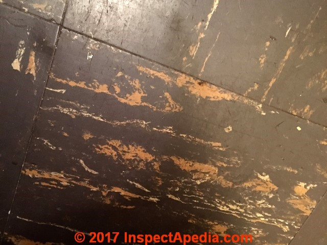 1955 Asphalt Asbestos Floor Tile Identification Key