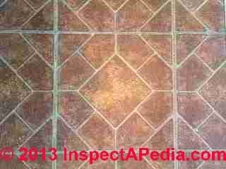 Armstrong Vernay self adhesive floor tile - did not contain asbestos (C) InspectApedia PS