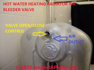 Radiator air bleeder valve (C) Daniel Friedman