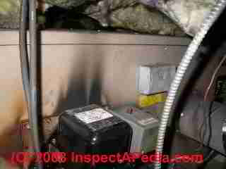 Soot and oil burner combustion product leak (C) Daniel Friedman