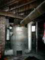 PHOTO of an Octopus heating furnace, originally coal fired, converted to natural gas fuel.