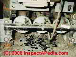 Gas fired heating boiler burner soot means unsafe system (C) Daniel Friedman