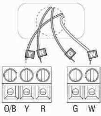 Honeywell RTH2300 Thermostat wiring diagram for 2-wire, spst control of heating only in a typical gas fired heating system - details from Honeywell Controls