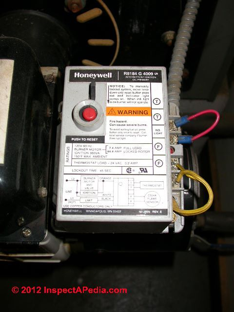heating furnace controls switches hot air heat troubleshooting photograph of an oil fired heater stack relay