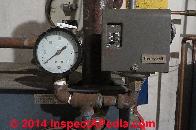 Heating System Gauges Pressure And Temperature Gauges On