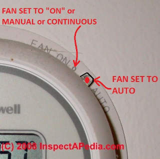 Fan ON AUTO switch settings explained