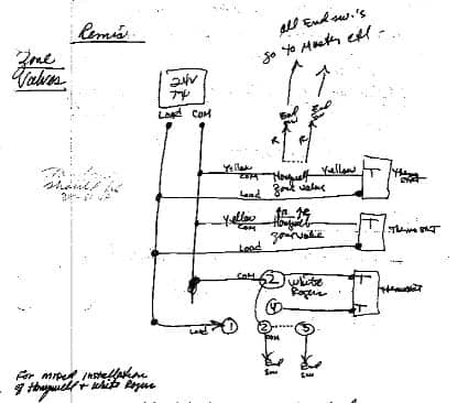 Zone Valve Mixed Wiring Djfs on Thermostat Wiring Diagram Honeywell Heater