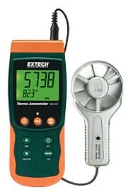Extech ExTech_SDL300_Anemomete air speed or air flow rate measurement device and data logger - www.extech.com