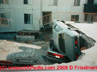 Photo of earthquake damaged buildings in Northridge Meadows Los Angeles