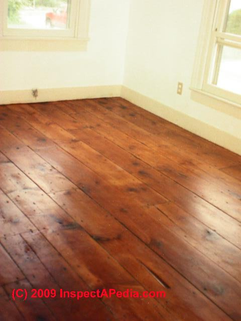 Wideboard wood floor ca 1860 © Daniel Friedman - Wood Flooring Types & Ages