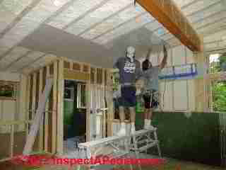 Drywall installation by Galow Homes (C) D Friedman Eric Galow
