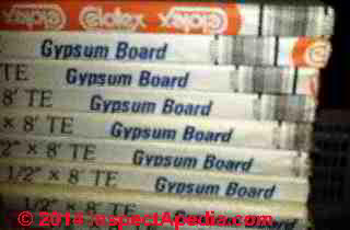 Celotex tapered edge drywall gypsum board (C) InspectAPedia