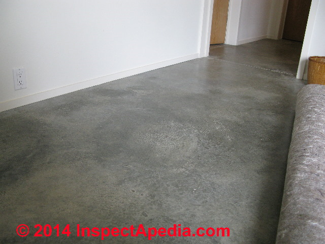 Poured finish flooring choices for use over concrete slabs for Floor finishes