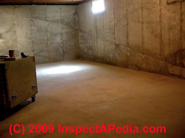 Wet basement diagnosis cure how to inspect for basement for Are concrete floors cold