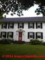 Determine age of this ca 1830 home (C) InspectApedia LH