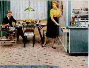 Congoleum Gold Seal linoleum flooring, Life Magazine 14 Feb 1955