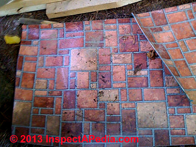 Brick Look Linoleum Flooring : How to identify resilient flooring or sheet that