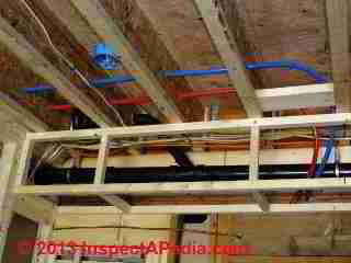 PEX hot and cold water piping installed during new construction (C) Daniel Friedman Eric Galow 2012 2013
