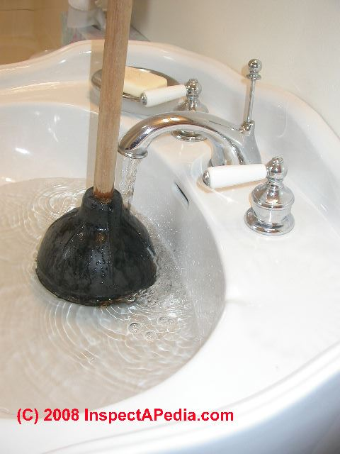 Bathroom Sinks Clogged diagnose clogged drain vs septic backup or failure