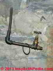 Photograph of abandoned gas piping